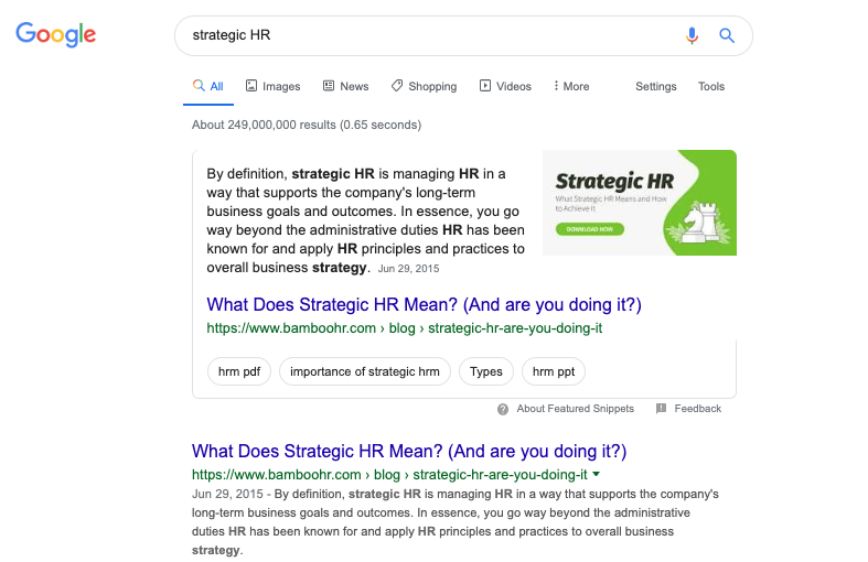 "The Power of ""Is"": A Featured Snippet Case Study 1"