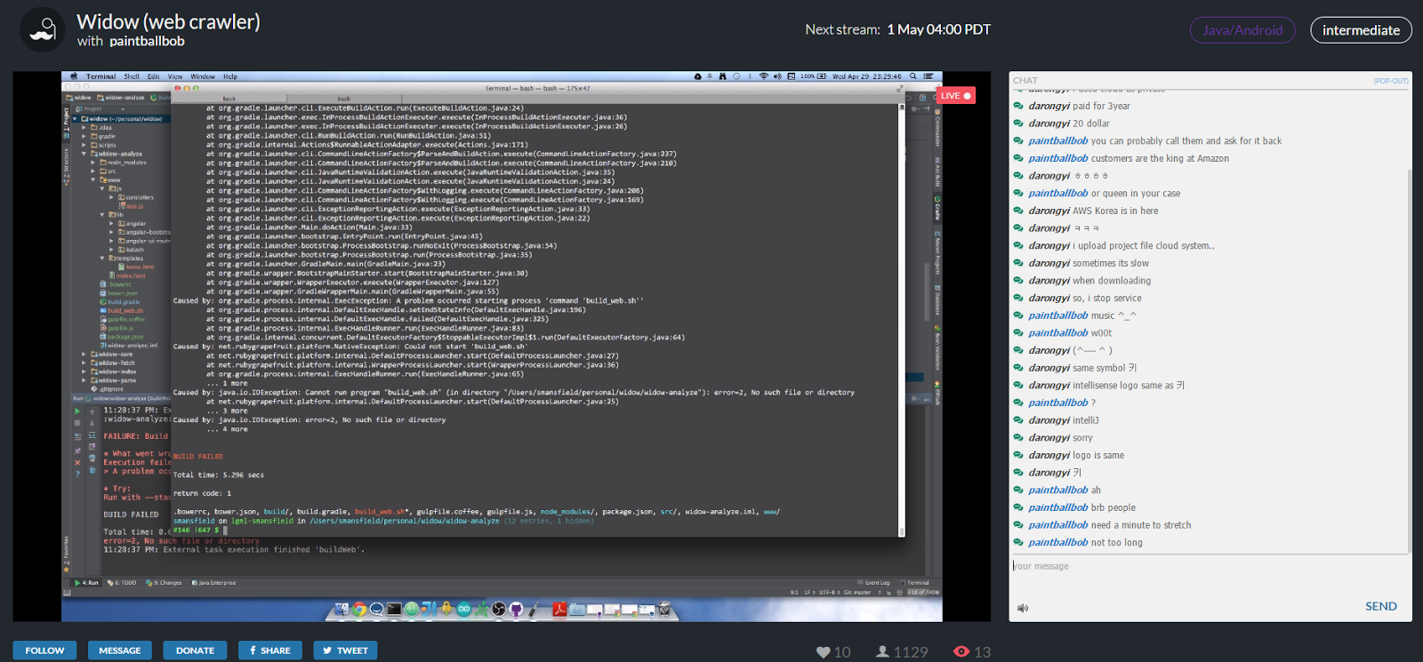 focused streaming site livecoding
