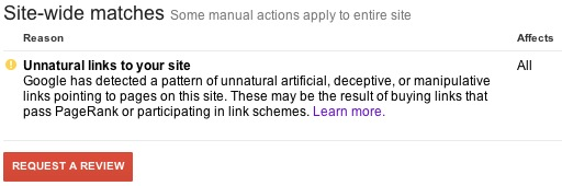 Unnatural Links to your site