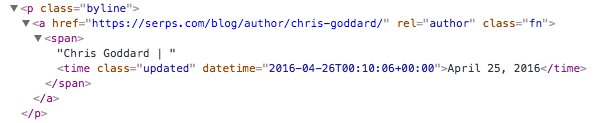 tag manager extract author name from page markup