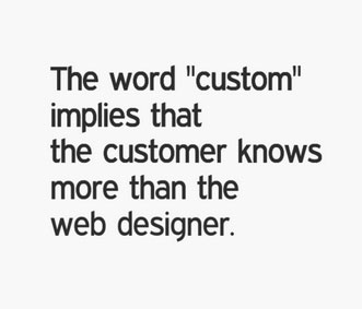Custom Web Design is Dead