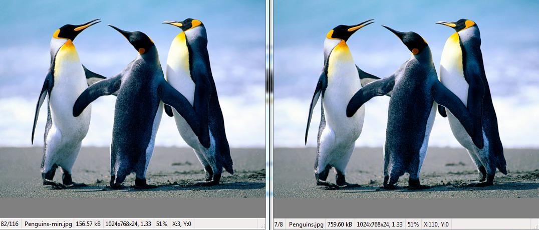 Original Image vs Compressed Image