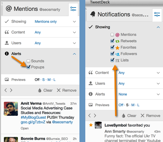 Tweetdeck to manage Twitter interactions