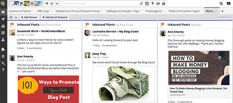 Hootsuite to manage interactions with Facebook business pages