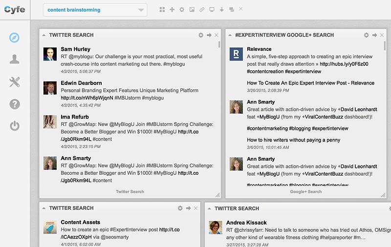 Cyfe to monitor social media hashtags to interact