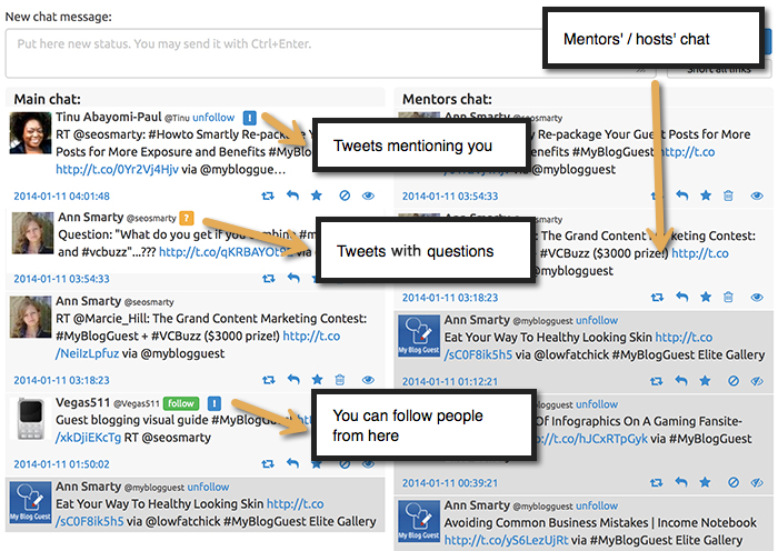 TwChat to monitor twitter chats