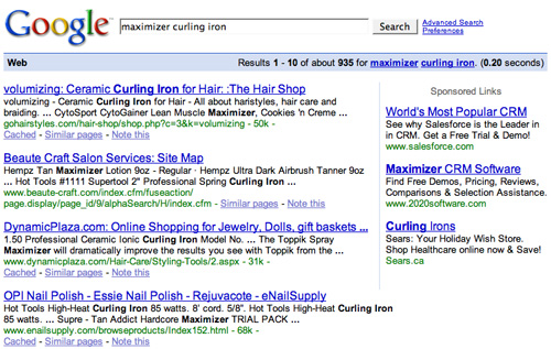 "Search Results for ""maximizer curling iron"""