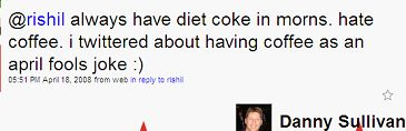 Danny loves Diet Coke!