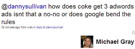 Michael Gray on Multiple Coke PPC