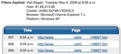 Bot hitting same page over 1,000 times