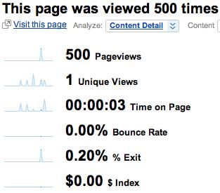 Google Analytics limits bot damage to 500 hits at once