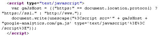 Google Analytics Dynamic JS include