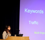 Mokoto Hunt presenting Search in Japan at the ISS London 2009