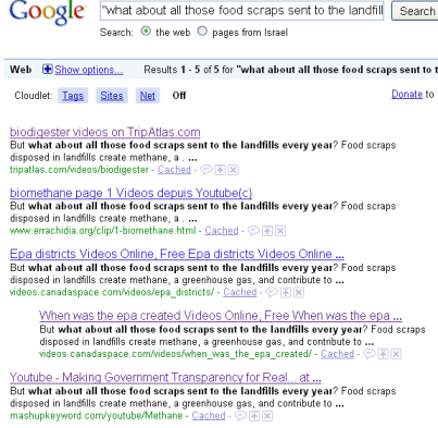 food scraps google results