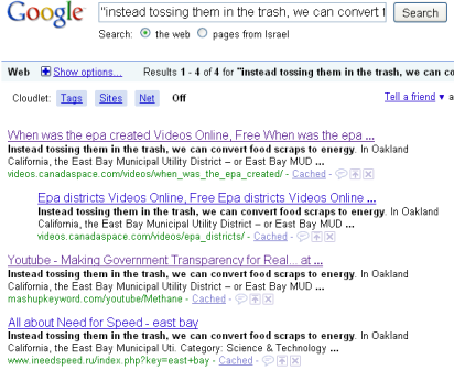 food scraps 2 google results