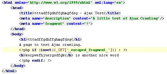 Ajax Test Code