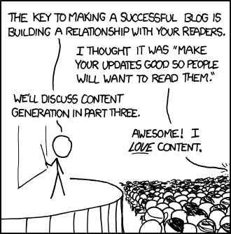 XKCD on Blogging