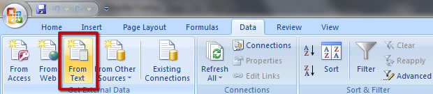 Import CSV to Excel