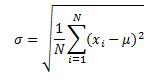 Standard deviation equation
