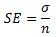 Standard error equation