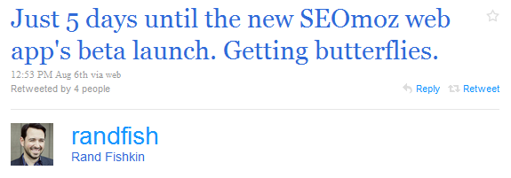 Rand Fishkin promotes the new SEOmoz web app.