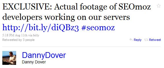 Danny Dover responds with Twitter joke