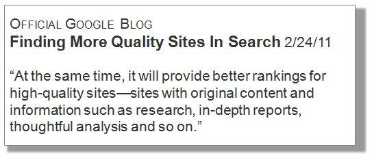 Google Blog Quote