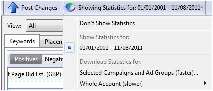 Show Statistics