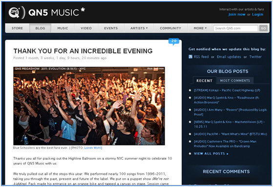 QN5 Music Post Screenshot