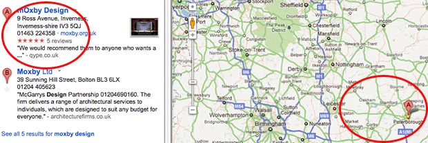 Google's MAP pin was mislocated which affected our Local SEO.