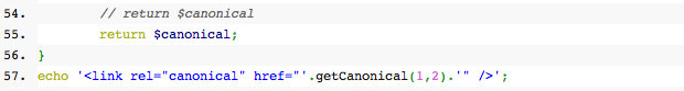 canonical link function