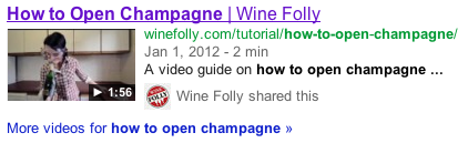 Example Video in SERP