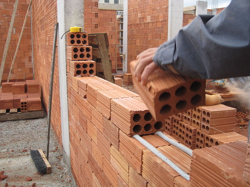 building with bricks