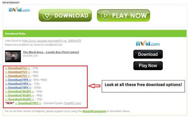 using keepvid.com users can download youtube videos and extract mp3 files for free
