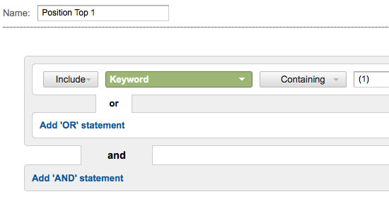 Segment Your Organic Keyword Positions