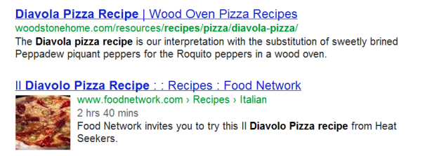 pizza image next to the recipe breadcrumb