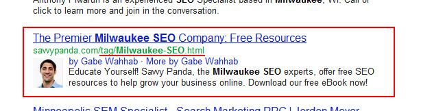 Bad Google SERP Result
