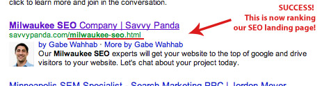 How to Switch URL's in Google SERPS