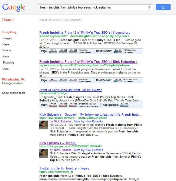 Google SERP 05-18-12