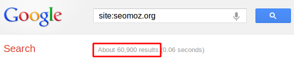 Google site: Command for SEOmoz