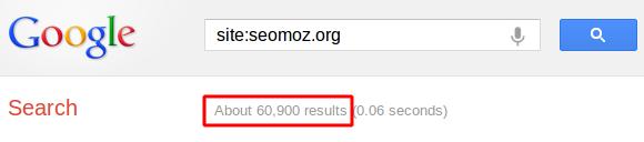 Google site: Command for SEOmoz