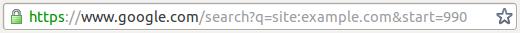 Google site: Example URL