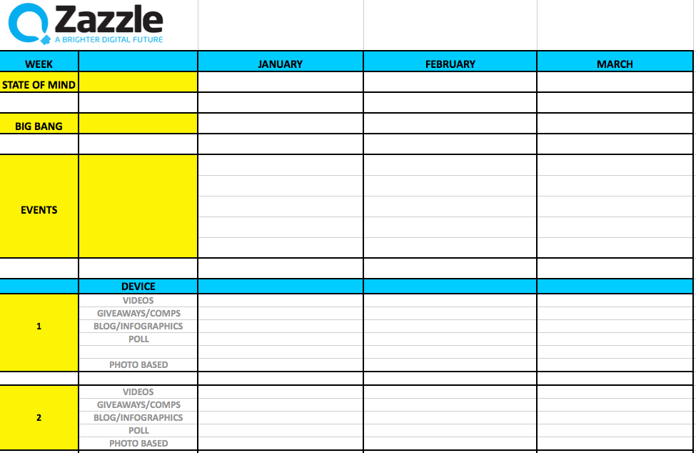 radio schedule template - the ultimate guide to content planning moz