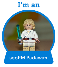 I'm an seoPM Padawan Badge