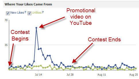 Gained 330 new fans and 400 new subscribers during the contest period.