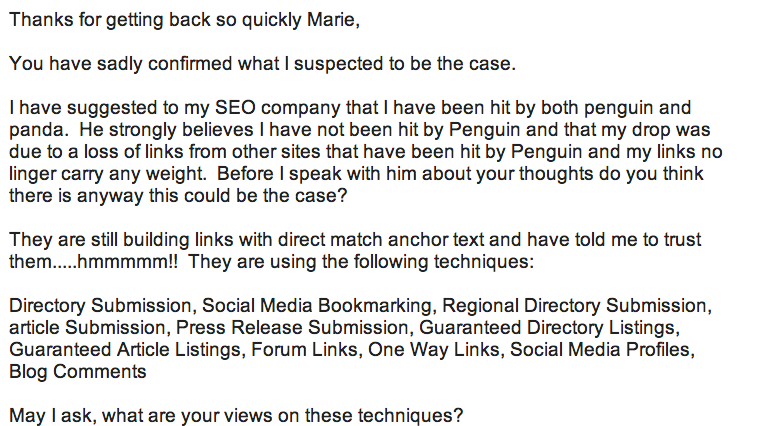 email about Penguin