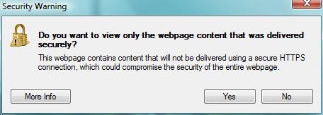 IE8 HTTPS Warning