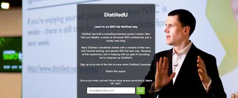 DistilledU Launchrock Campaign