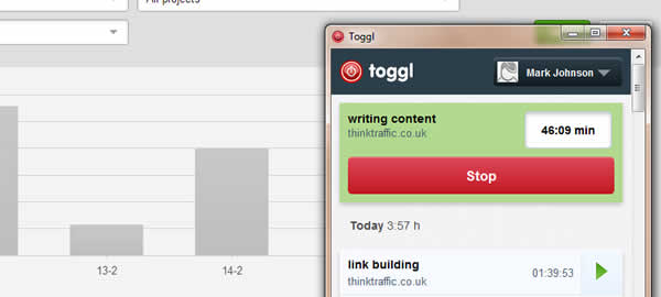 Toggl Screenshot