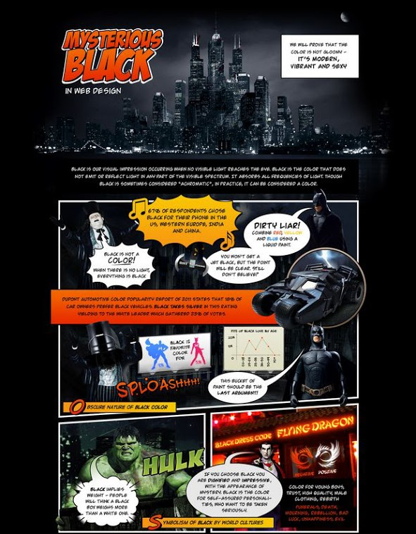 Black in Web Design Infographic